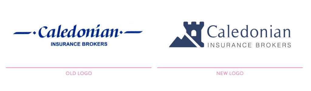 Caledonian Insurance Brokers Visual Branding Logo redesign